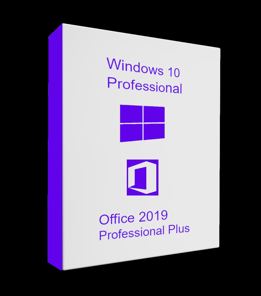 Windows 10 Professional + Office 2019 Pro Plus